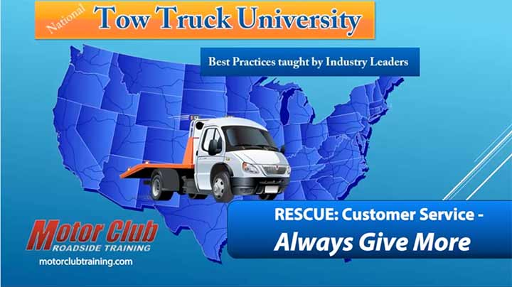 Rescue: Customer Service - Always Give more from Tow Truck University